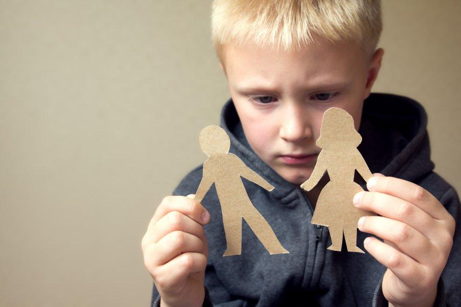 Det er vigtigt, at begge forældre bestræber sig på at rumme børnenes frustrationer og reaktioner i forbindelse med en skilsmisse. Modelfoto