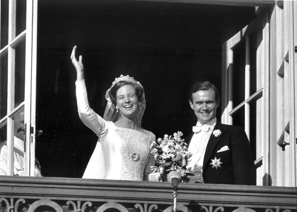 (ARKIV) Prinsesse Margrethe og Henrik de Monpezats bryllup.. (Foto: HANS PETERSEN/Scanpix 2017)