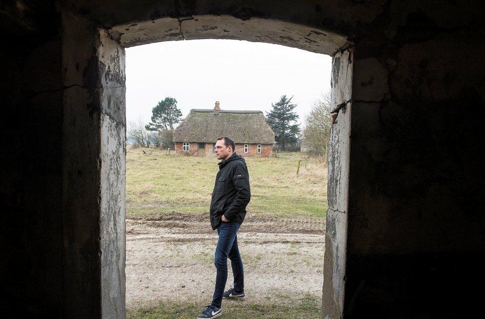 Museumsinspektør John Jensen ved Børsmose Kirke som ligger midt i det millitære øvelses område ved Oksbøl fredag den 9. februar 2018. Bestilt opgave for Kristelig Dagblad