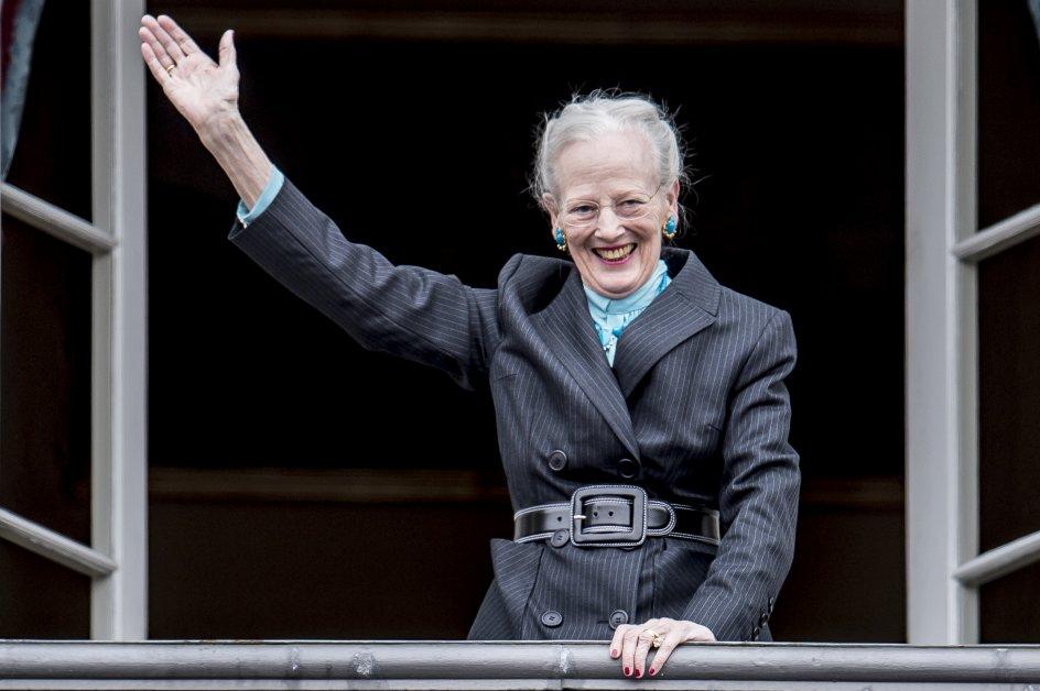 Dronning Margrethe hyldes på sin 78 års fødselsdag på Amalienborg Slotsplads i København, mandag den 16. april 2018.. (Foto: Mads Claus Rasmussen/Ritzau Scanpix)