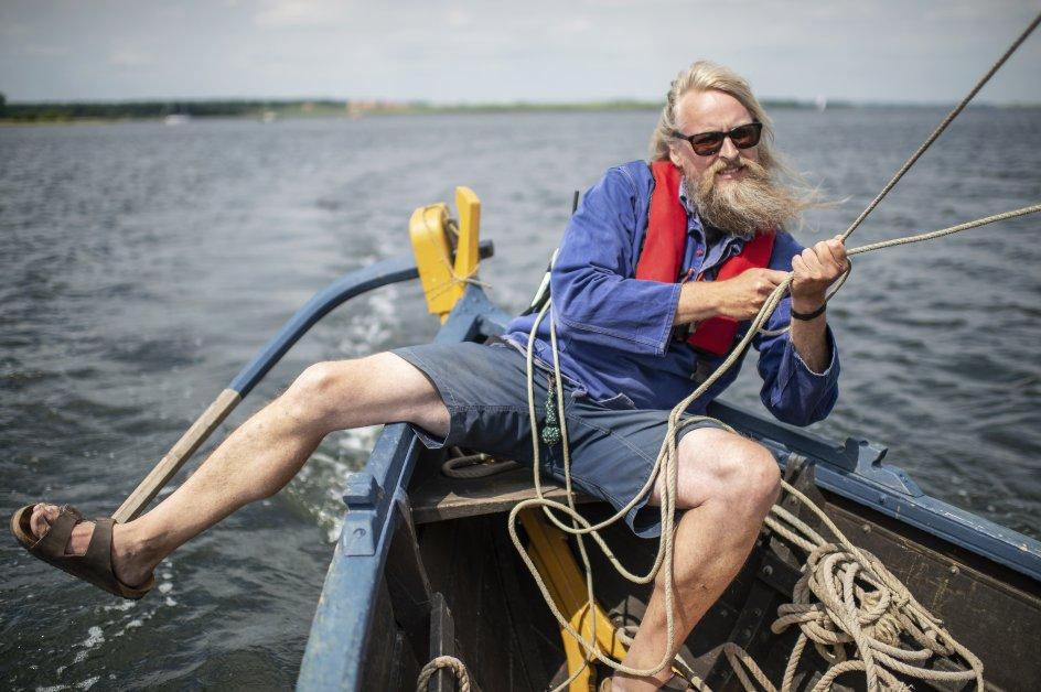 Søren Lykkeager er skipper på vikingesejladsen. –