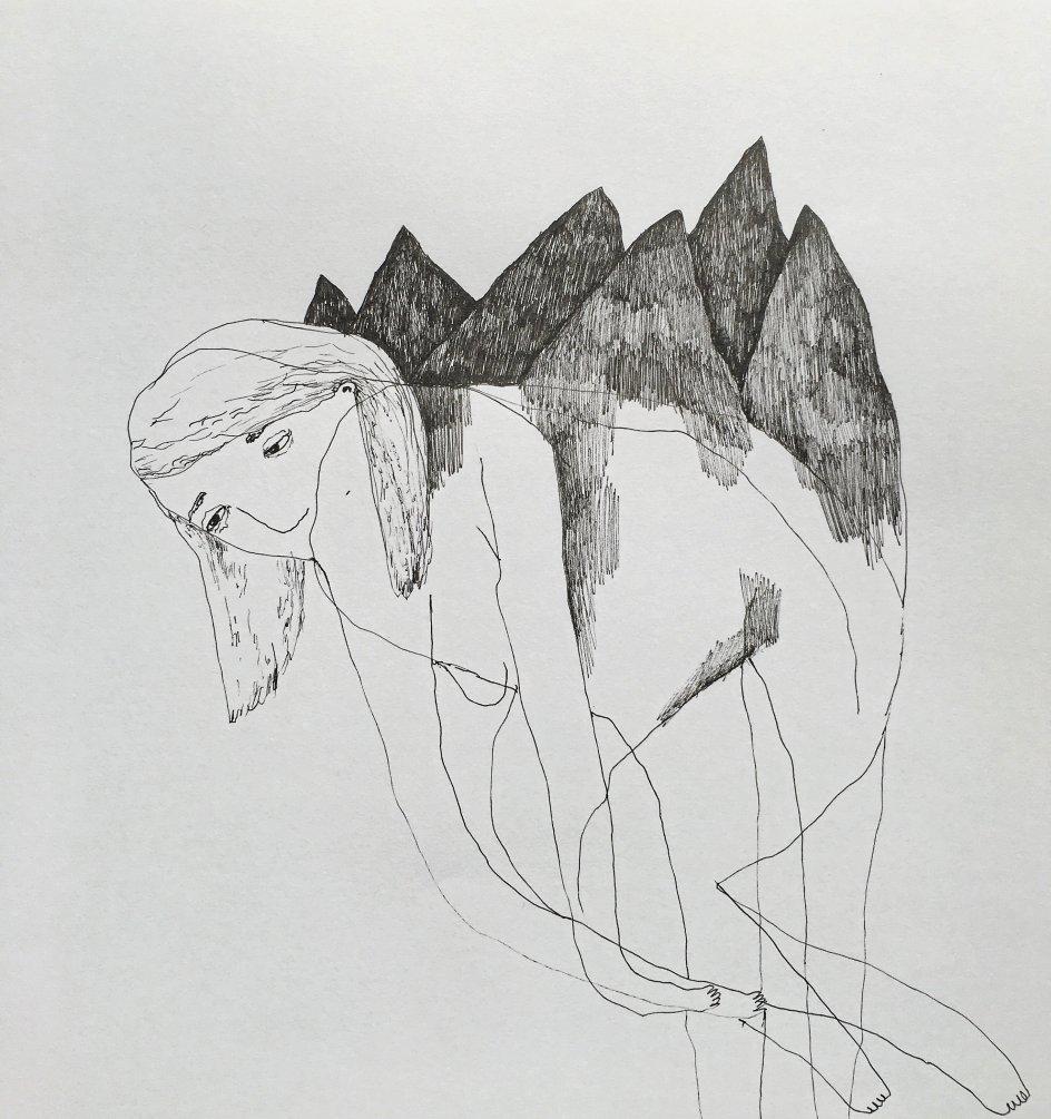 """""""Læssede skuldre"""" af Pernille Egetoft. Fra hendes Instagram-profil, 2019"""