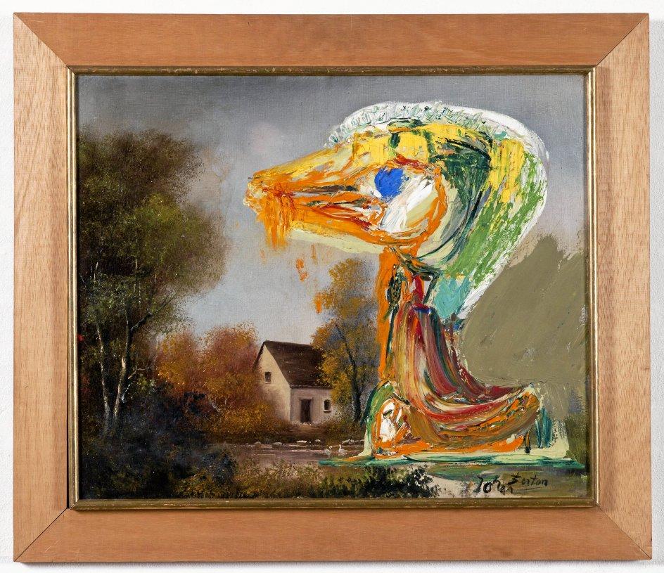 """Asger Jorns """"Den foruroligende ælling"""" fra 1959. –"""