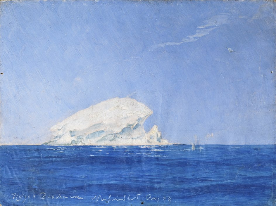 "Holger Drachmanns ""Isbjerg. Newfoundland"" fra 1899. – Fotos: Skagens Kunstmuseer/Drachmanns Hus."