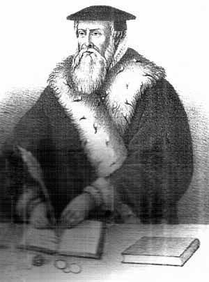 Hans Tausen som biskop over Ribe. – Illustration: Wikicommons