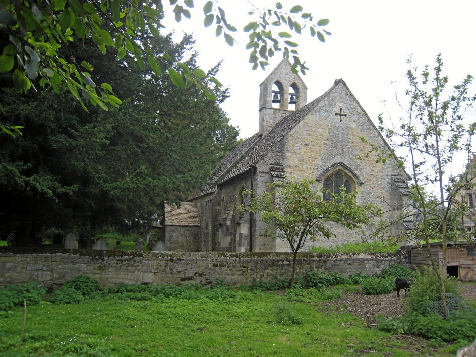 Her ses kirken i Binsey, som Rasmus Vanghardt kommer forbi på sine løbeture.