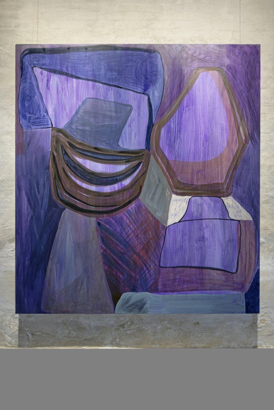 Der er på udstillingen også flere store værker af danske Julie Sass (født 1971), der de seneste 10 år har opholdt sig en del i Torshavn. – Foto: Torben Eskerod/Nordatlantens Brygge.