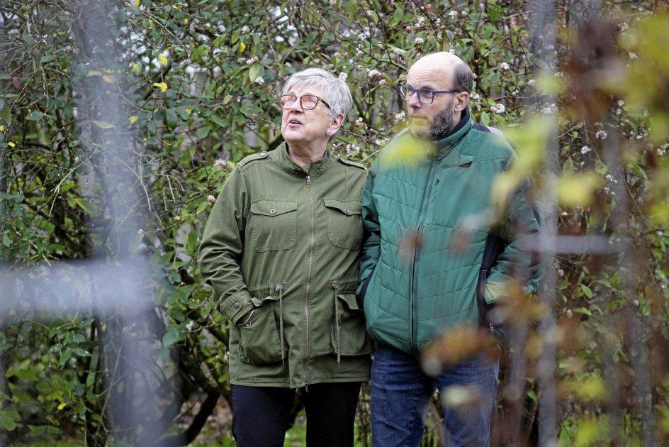 Ingrid Torp og Lars Torp bor begge i Randers, kun 300 meter fra hinanden. Og det bliver da også til et par besøg i løbet af dagen. – Foto: Bo Amstrup/Ritzau Scanpix.