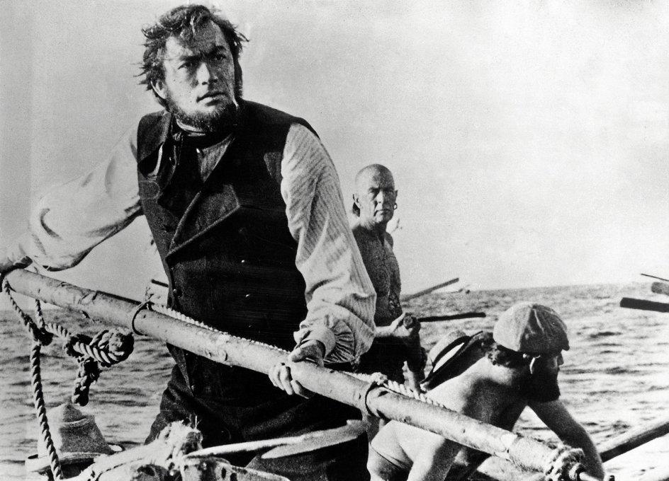 """""""Moby Dick"""" er blevet kaldt den ultimative skibsroman, men er også en af de første, der handler om vores globaliserede verden, påpeger ekspert. Her ses Gregory Peck i rollen som Kaptajn Ahab. – Foto: Ritzau Scanpix."""