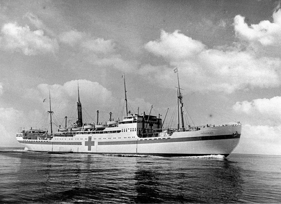 """Hospitalsskibet """"Jutlandia"""" sejlede fra København til Korea for præcis 70 år siden. – Foto: John Hartmann/Ritzau Scanpix."""
