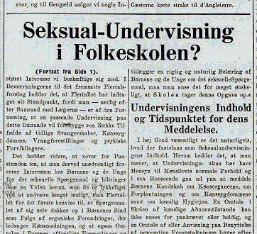 Udsnit af avisen fra september 1937.