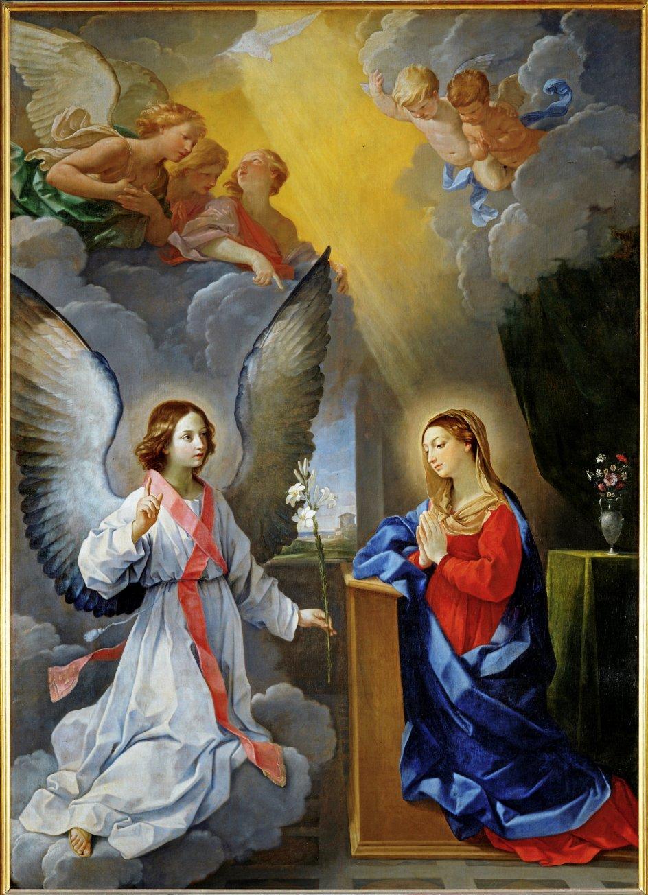 Her får jomfru Maria at vide, at hun skal føde Guds søn. Bebudelsesmotivet er et motiv, som mange kunstnere i tidens løb har fordybet sig i. – Foto: Ritzau/Scanpix.
