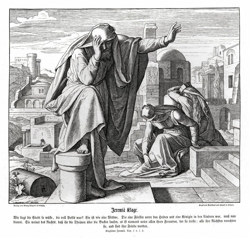 Profeten Jeremias, der kendes fra Det Gamle Testamente, græder flere gange og udtrykker en sorg over sit folk. – Foto: Ritzau Scanpix/ Bridgeman Art Library.