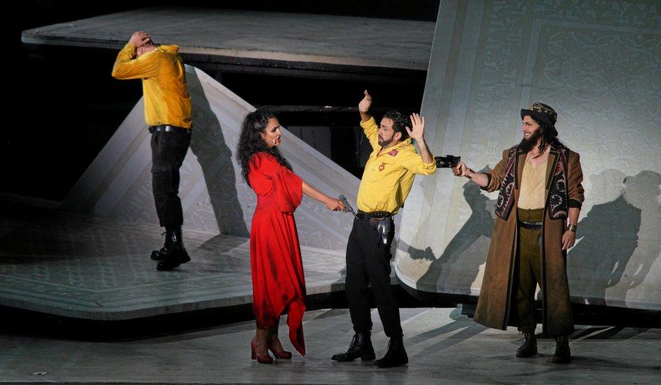 """Rollen som Zuniga i Georges Bizets operaklassiker """"Carmen"""" har Sébastien Soules brilleret i flere gange som her ved Bregenzer Festspiele i 2018."""
