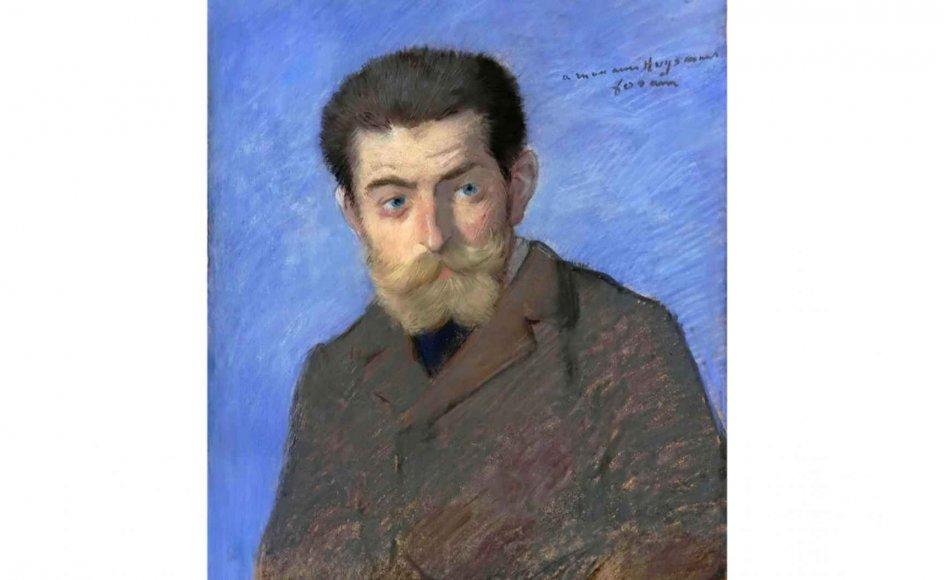 """Der var ingen kunstner, forfatter eller litterat i tiden omkring år 1900, der ikke havde den franske forfatter Joris-Karl Huysmans' (1848-1907) roman """"Mod strømmen"""" som reference. Her er det den franske maler Jean-Louis Forains (1852-1931) portræt af Huysmans. –"""
