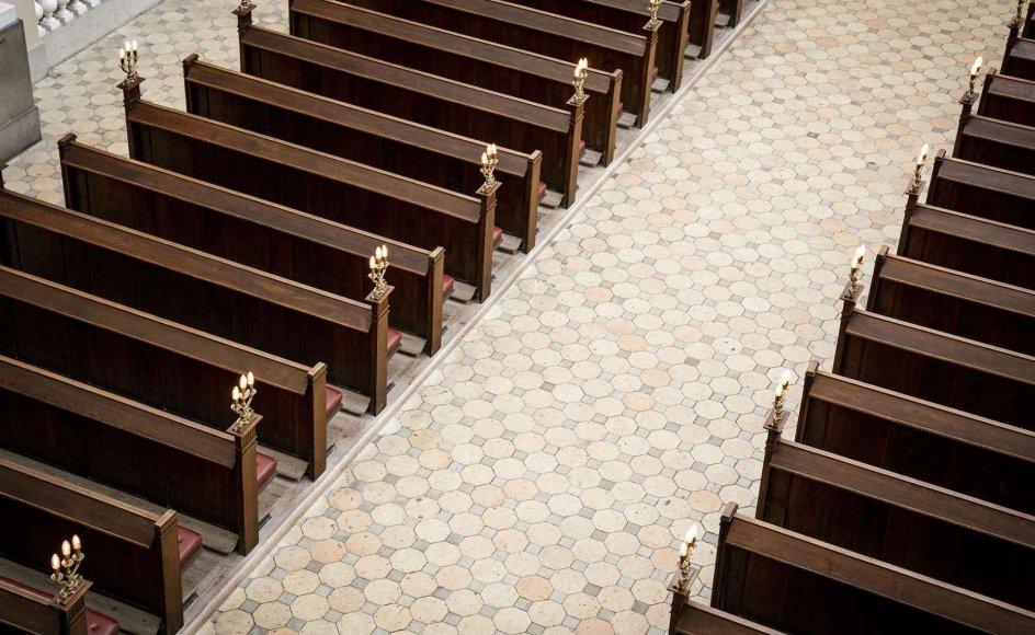 """""""Det er lidt beskæmmende, at kirken ikke indgår i nogen form i statsministerens pressemøder. Vi er den organisation i Danmark, der har den største medlemsprocent overhovedet. Så jeg savner, at vi bliver adresseret,"""" siger sognepræst Kathrine Lilleør."""