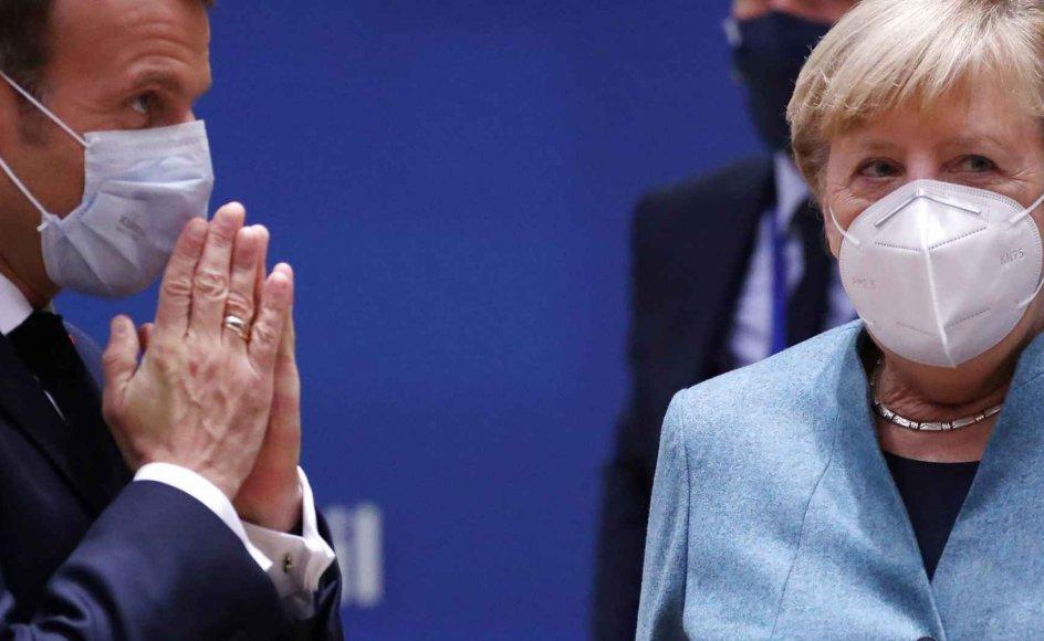 Når to magter er så jævnbyrdige, er spørgsmålet altid: Hvem fører an, og hvem følger trop? Der er ingen tvivl om, at hyperaktive Macron gerne vil styre Europa. Samtidig betoner sindige Merkel igen og igen de tyske prioriteter