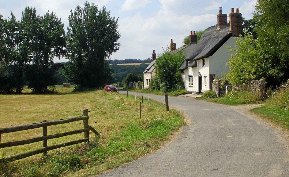 Små landeveje hører til ældre byer som Oxford.