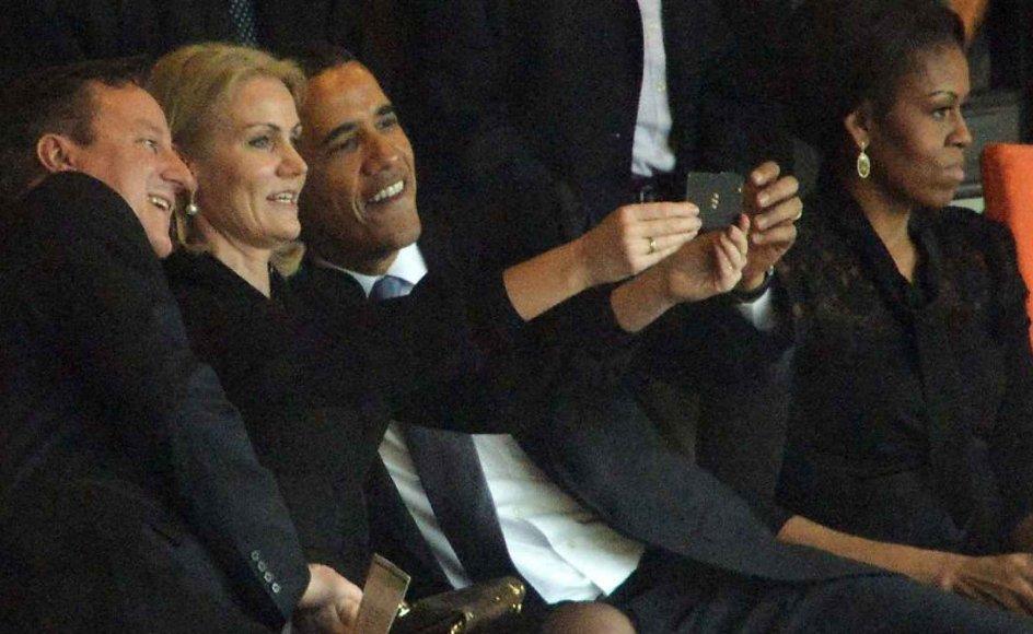 Daværende statsminister Helle Thorning-Schmidt (S) er en af dem, der har benyttet sig af selfien.