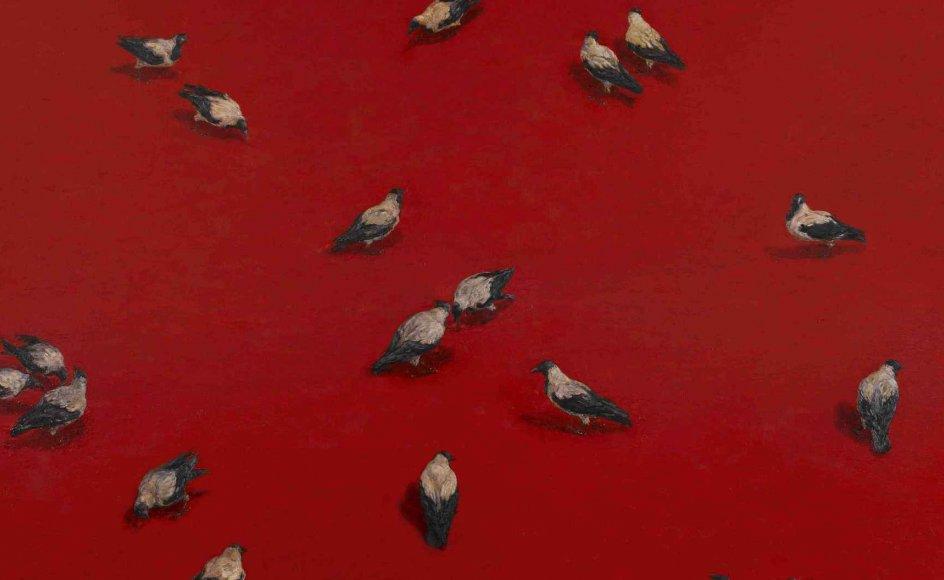 "Michael Kvium: ""The Feast"". 2007. Olie på lærred. –"