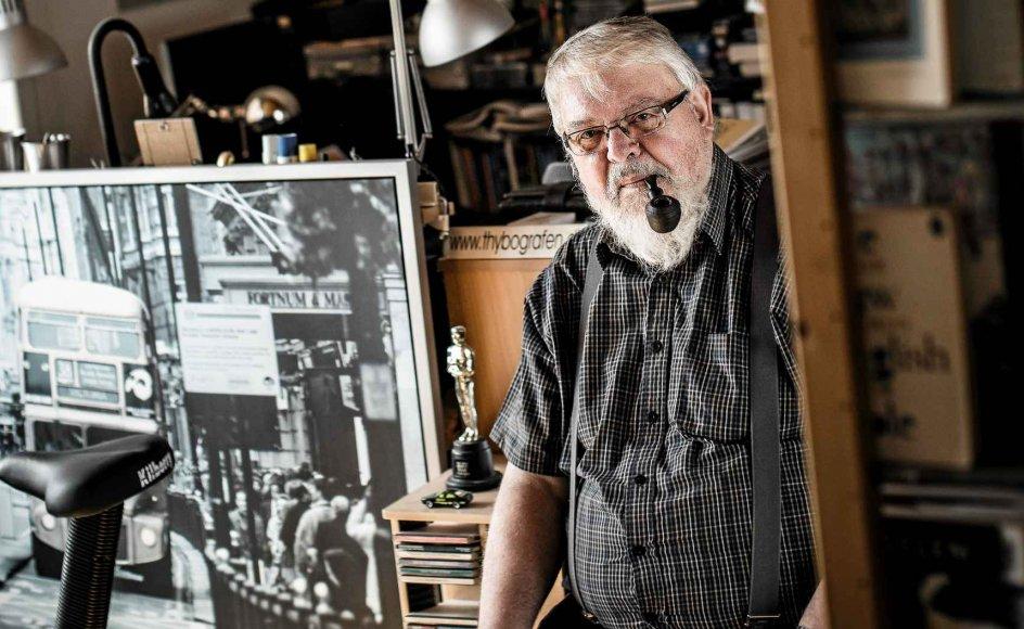 Hulen i hjemmet i Thisted, hvorfra Leif Damsgaard Jensen har skrevet salmer, bøger og kristne musicals. –