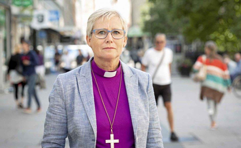 Det svenske samfund har ikke været dygtigt nok til at beskytte de svageste under coronakrisen, mener biskop Susanne Rappmann. – Foto: Kristin Lidell.