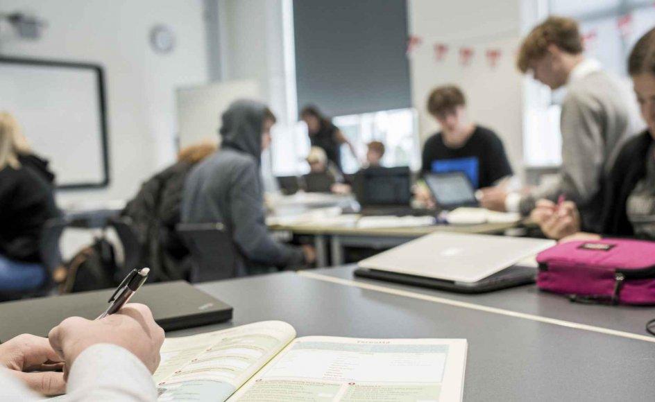 Ekspertgruppen har fire forslag med hensyn til fremtidens karakterskala. Her ses elever på Højdevangens Skole i København i august 2017. – Foto: Anne Bæk/Ritzau Scanpix.