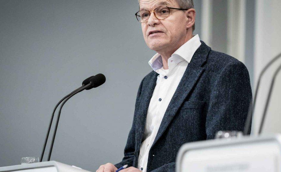 - Vi har en epidemi, der er i fuld kontrol, sagde faglig direktør i Statens Serum Institut Kåre Mølbak på et pressemøde mandag. (Arkivfoto)