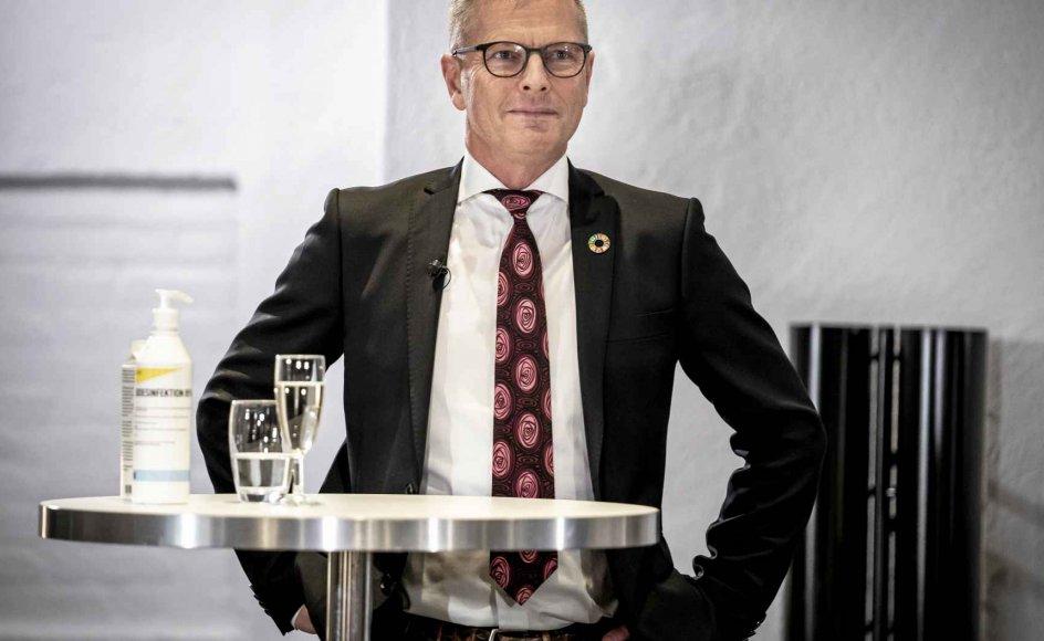 """""""Flemming Møller Mortensen (S) kan blive arkitekten bag en nordisk bistandssupermagt, og den er der hårdt brug for,"""" skriver generalsekretær Tim Whyte fra Mellemfolkeligt Samvirke. – Foto: Mads Claus Rasmussen/Ritzau Scanpix."""
