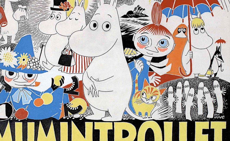 Illustration fra Mumifar og havet. 1965.
