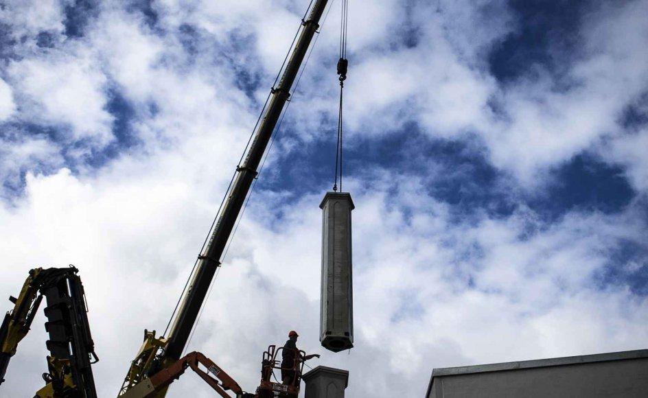 Danmarks første minaret blev opført på Rovsingsgade på Nørrebro i København af det danske arkitektfirma Johannesen Arkitekter i 2013.