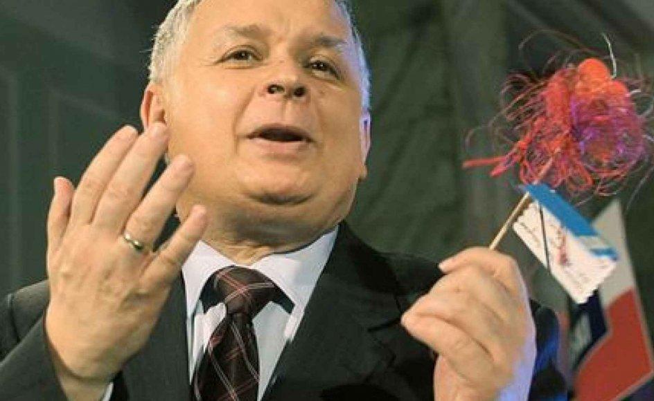 Lech Kaczynski er konservativ i sociale spørgsmål, men vil bevare elementer fra den socialistiske økonomi.-- Foto: Scanpix.