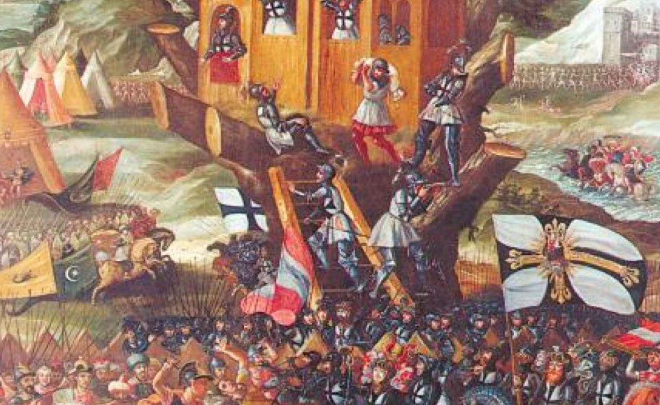 Dette maleri fra 1600-tallet viser en kamp mellem kristne riddere af Den Tyske Orden og muslimske tyrkere. Netop 1600-tallet var den periode, hvor historiens sidste egentlige religionskrige fandt sted.