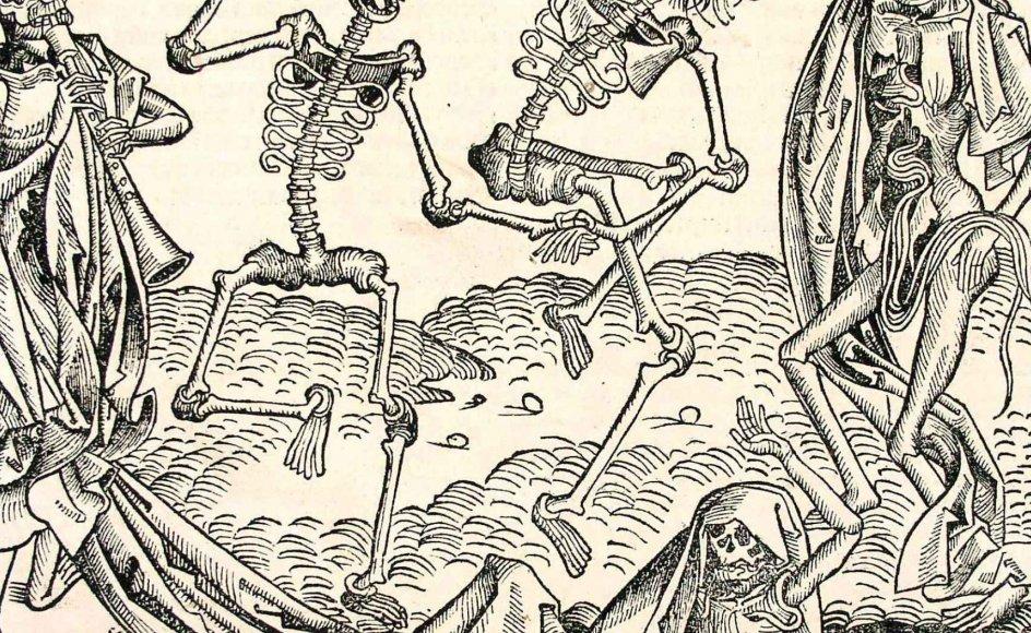Pesten spredte død i Europa i mange omgange fra midten af 1300-tallet og 400 år frem. I Danmark var 1659 et særligt dødeligt år. Illustrationen af dødens dans stammer fra den såkaldte Nürnberg-krønike og menes at være udført af renæssancekunstneren Albrecht Dürer.