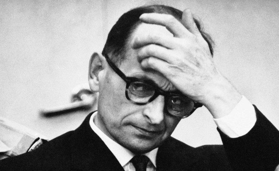 Naziforbryderen Adolf Eichmann under retssagen i Jerusalem.