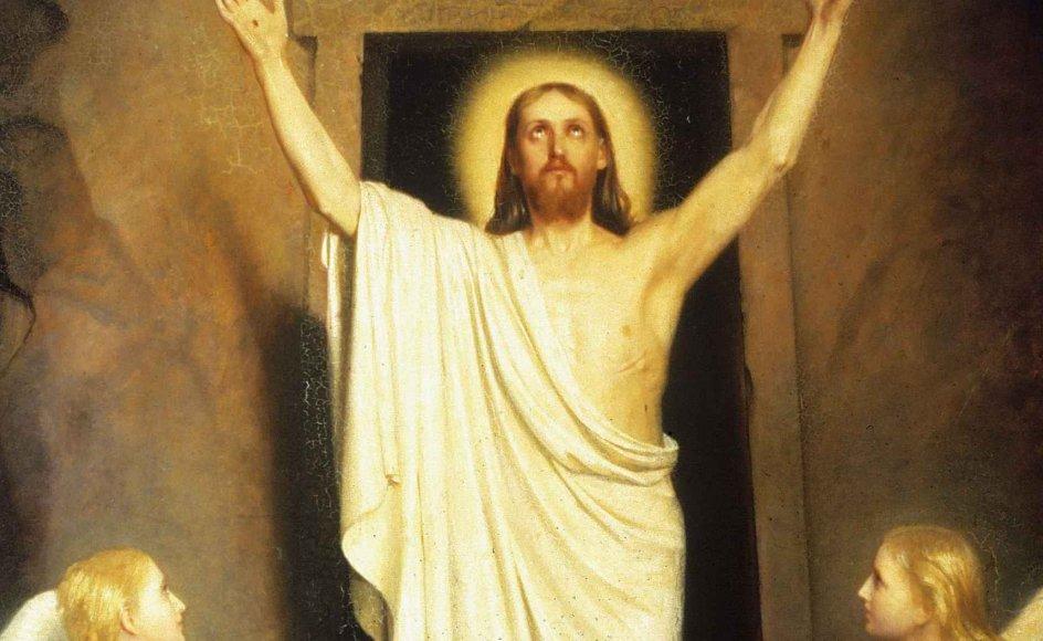 Jesu genopstandelse. Olie på lærred af Carl Bloch (1834-1890).