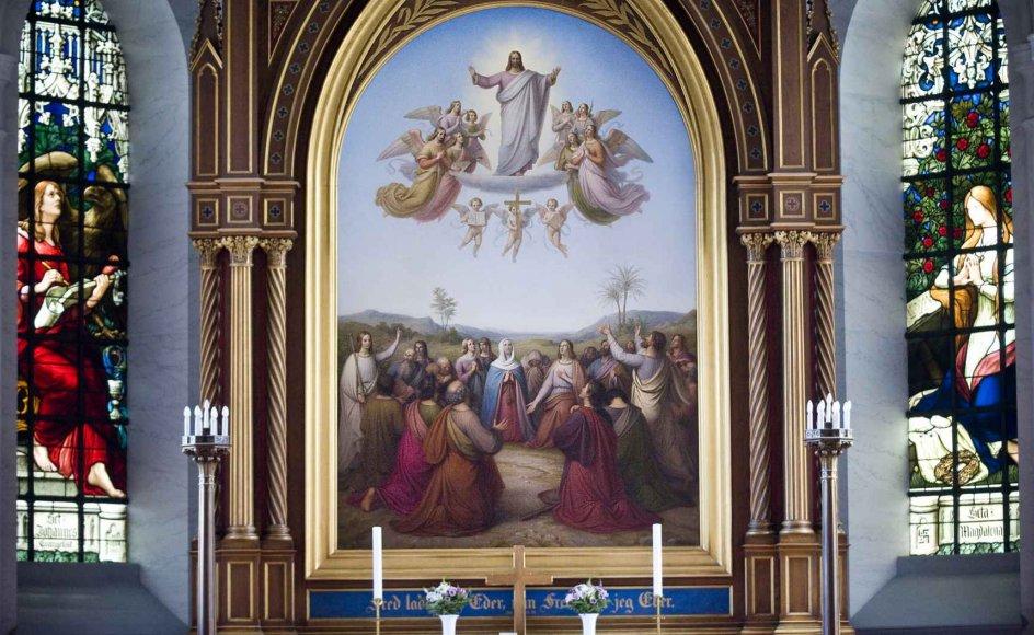 Her ses Kristi himmelfart på en altertavle i Sankt Johannes' Kirke i København, udført af maleren og professoren Johan Ludvig Lund (1777-1867). Altertavlen blev oprindeligt malet til Vor Frue Kirke i København, men den blev overflødig, da det blev besluttet at udsmykke alteret med Thorvaldsens Kristus-skulptur.