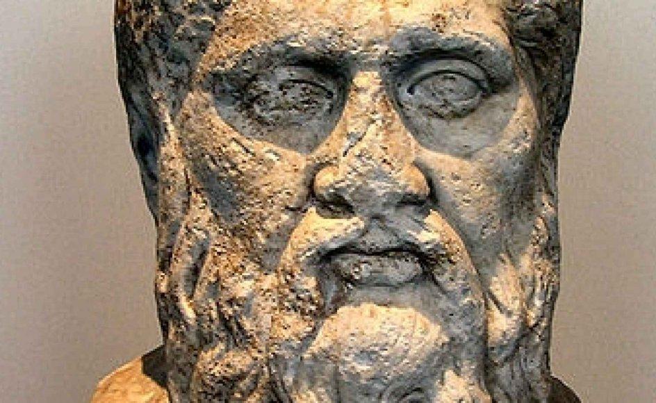 En buste af Platon fra Altes Museum i Berlin.