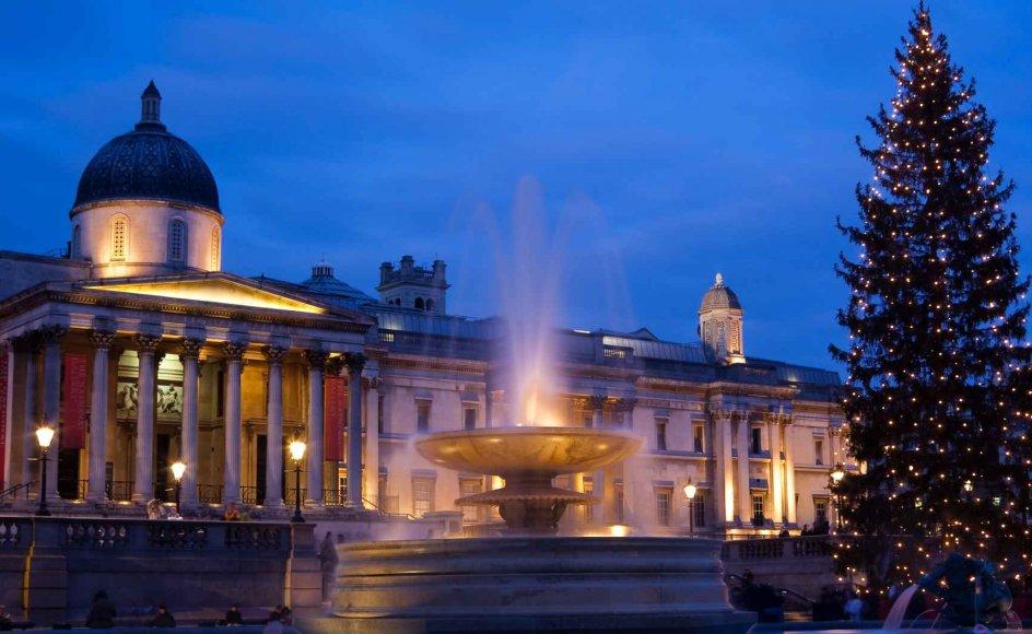 Oplev julestemningen i London på læserrejsen i november. Her på Trafalgar Square.
