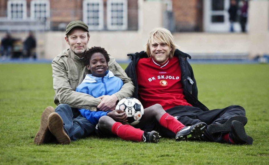 B.T. er med til indspilningen af 'Kidnappet'. En ny dansk børnefilm med Connie Nielsen i hovedrollen. Hun var desværre ikke tilstede under indspilningen af denne scene. På skuepsillerlisten er også Lars Mikkelsen og Felix Smith. Foto: Kristoffer Juel Poulsen