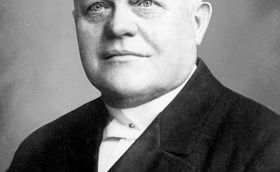 """J.C. Christensen (V), kirkeminister 1920-1922: """"En af de helt store. SOm statsminister og politiker var det ham, der skabte grundlaget for vor tids folkekirke med sine love om menighedsvalgte biskopper,"""" skriver Asger Baunsbak-Jensen."""