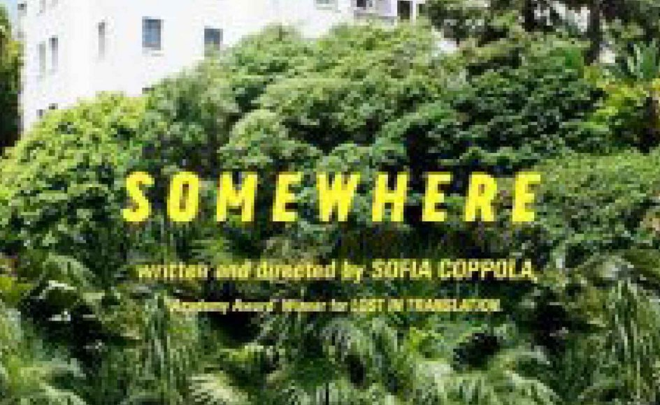 Somewhere. USA 2010. Instruktion: Sofia Coppola. 98 min. Premiere i ni biografer.