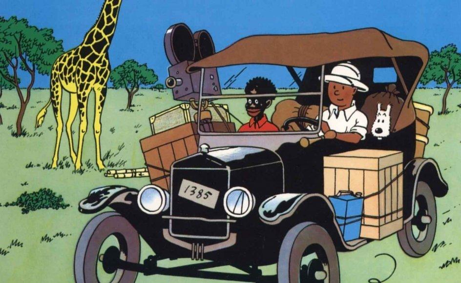 """Tegneserien """"Tintin i Congo"""" er henvist til skammekrogen i de britiske boghandler."""