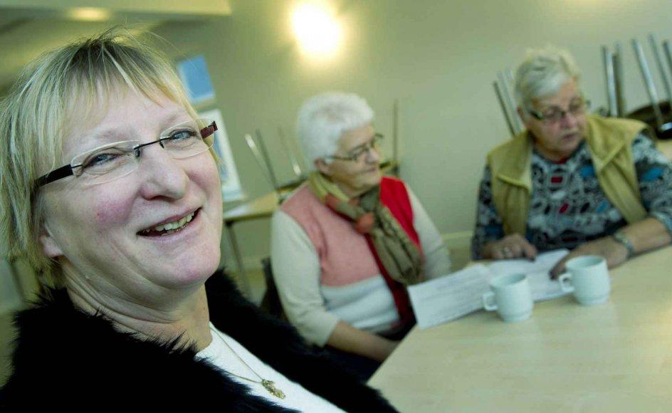 Gerda Enevoldsen (til venstre), Jytte Kronholm og Tove Täkker glæder sig til at holde nytårsaften sammen.