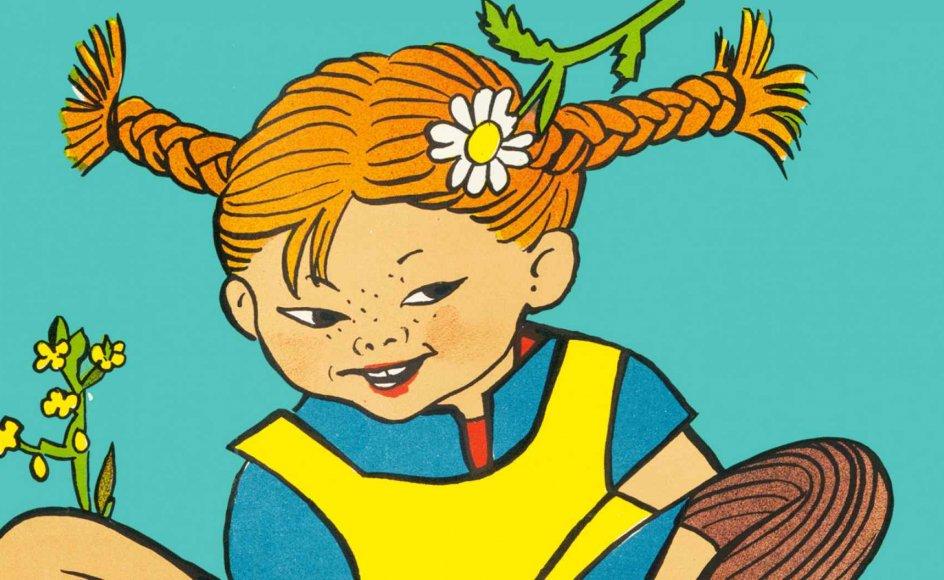 Denne tegning af Pippi skabte den danske tegner Ingrid Vang Nyman i forbindelse med fejringen af Børnenes Dag i 1949.