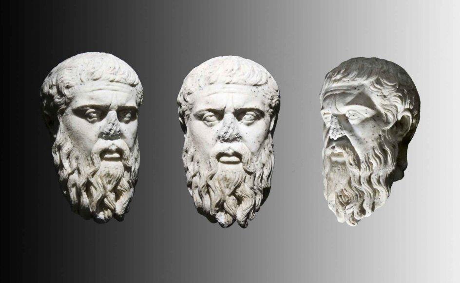 Filosoffen Platon baserede sine værker på altid at anskue verden fra flere vinkler. Skulpturen er fotograferet på Ny Carlsberg Glyptotek.