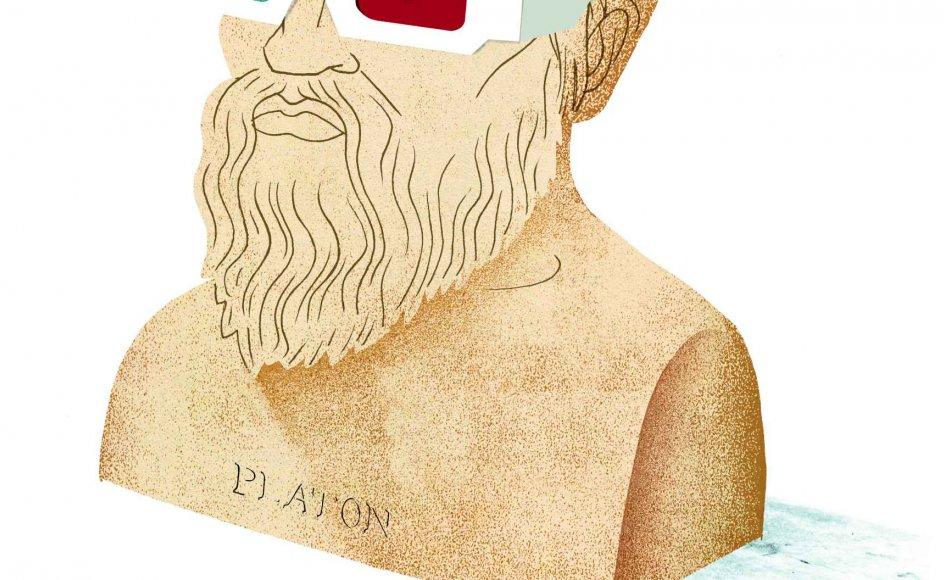 Et nyt storværk om filosofiens historie gør op med tanken om uforanderlige sandheder. Vores blik har skiftet retning, hver gang vores livsform har ændret sig, mener professor Ole Thyssen. Et godt eksempel er udviklingen i forholdet mellem filosofi og religion.TEGNING: MORTEN VOIGT