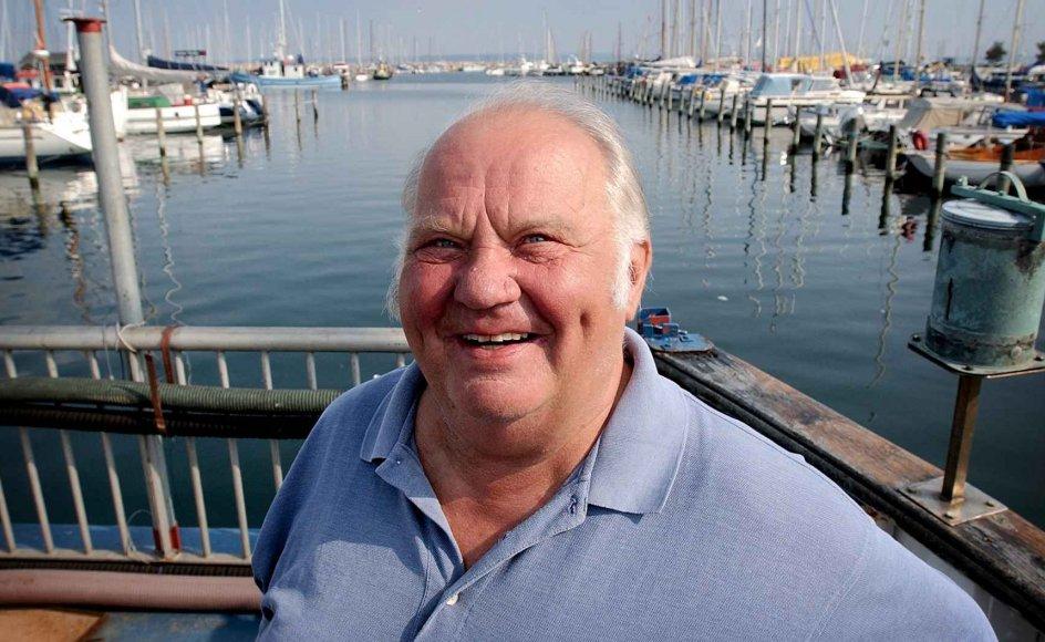 Ove Verner Hansen har solgt sin sidste båd, men nærheden til vandet har han og hustruen Birthe, der bor i en lejlighed i Helsingør med udsigt over Øresund. –