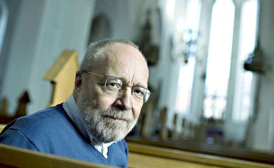 Niels Henrik Arendt ses her i Haderslev Domkirke, få dage før han fratræder som biskop for at blive sognepræst i Vestjylland. –