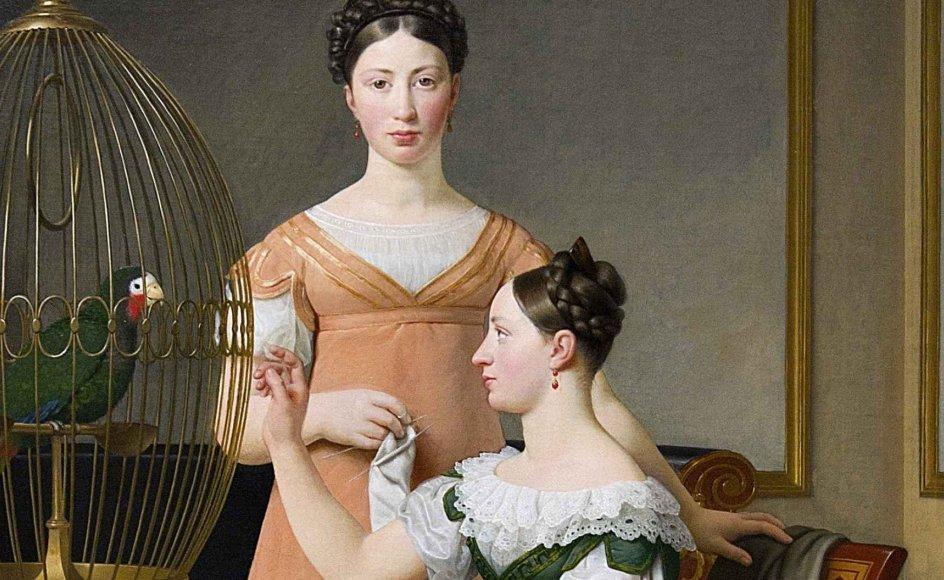 Maleriet viser her den udbredte norm i både 1700- og 1800-tallet: Kvinderne tager sig af hjemmet. Men ny forskning anslår, at cirka 7 procent af de næringsdrivende københavnere i 1800-01 faktisk var kvinder.